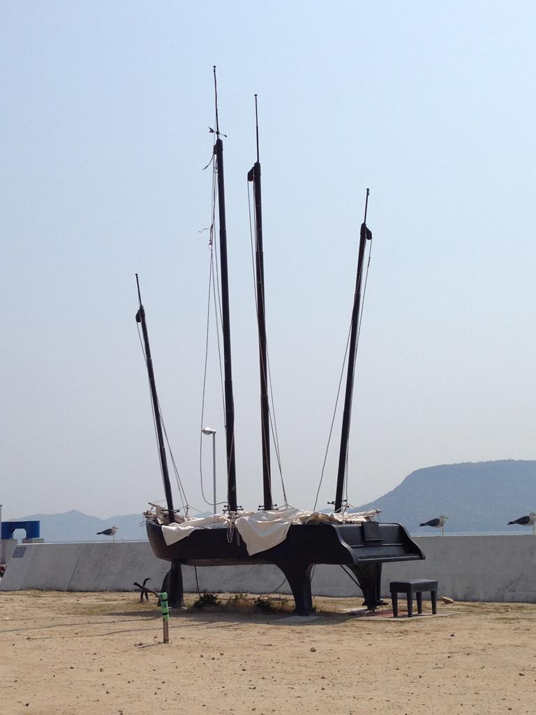 女木島、瀬戸内国際芸術祭の作品