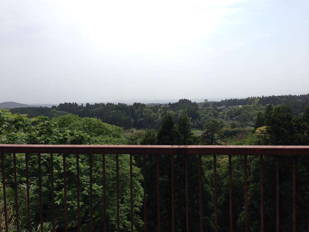 天気がいいと桜島が見えるらしい