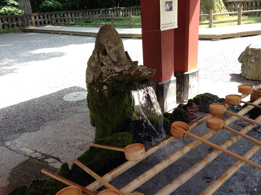 霧島神宮の手水舎