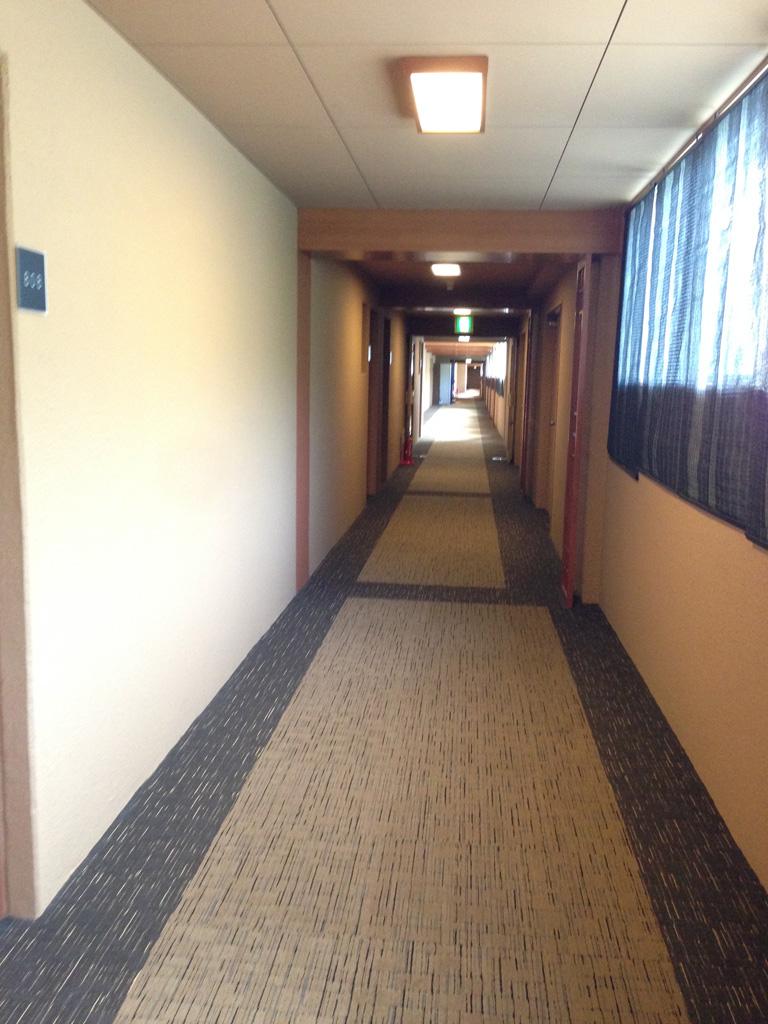 霧島キャッスルの綺麗な廊下